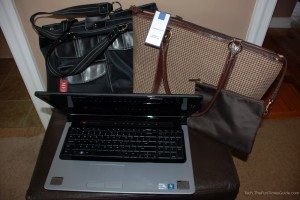 Laptop handbags for a 17-inch computer. photo by Lynnette at TheFunTimesGuide.com