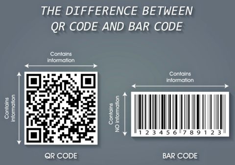 The difference between a QR codes and bar codes