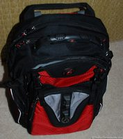 This is my red tech backpack - I use it as a laptop computer bag and more!
