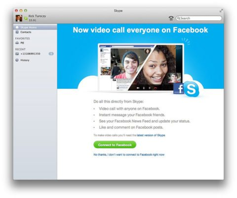How can you have a skype call with Facebook friends?
