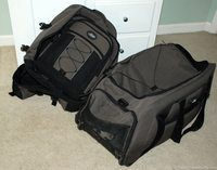 Skyway rolling duffel bag and matching Skyway tech bag