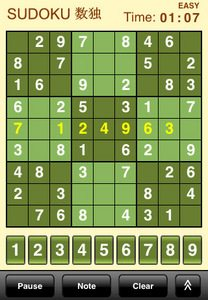 sudoku iphone game app